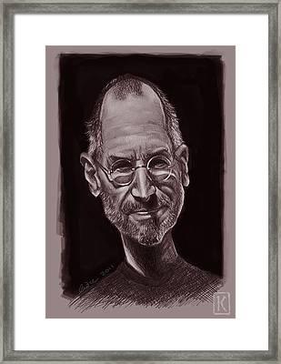 Steve Jobs Framed Print by Andre Koekemoer