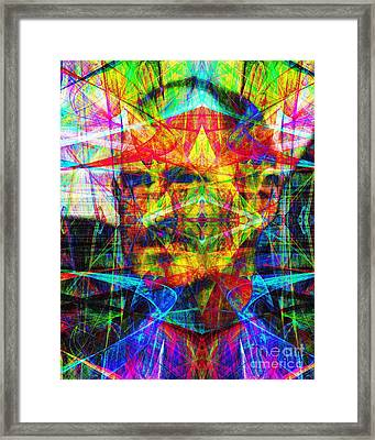 Steve Jobs Ghost In The Machine 20130618 Framed Print by Wingsdomain Art and Photography