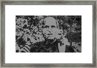 Steve Jobs Paint Splatter 3b Framed Print by Brian Reaves