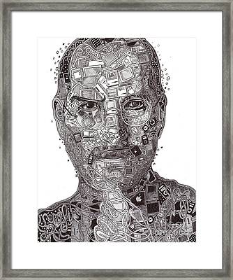 Steve Jobs Framed Print by Serafin Ureno