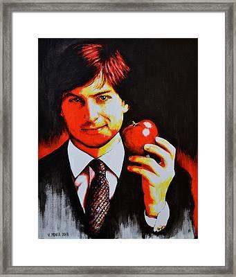 Steve Jobs Framed Print by Victor Minca