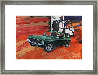 Steve Mcqueen As Bullitt Framed Print by Michael Hagel