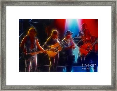 Steve Miller Band Fractal Framed Print by Gary Gingrich Galleries