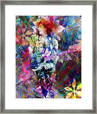 Steve Vai Original Painting Print Framed Print by Ryan Rock Artist