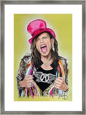 Steven Tyler 2 Framed Print by Melanie D