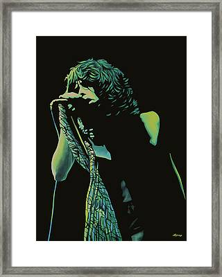Steven Tyler 2 Framed Print by Paul Meijering