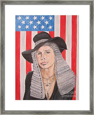 Steven Tyler As A Judge Painting Framed Print by Jeepee Aero