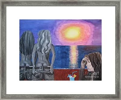 Steven Tyler At Sunset Framed Print by Jeepee Aero