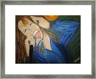 Steven Tyler Framed Print by Debby Reid