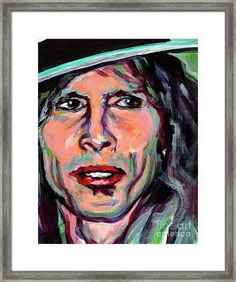 Steven Tyler Framed Print by Tanya Filichkin