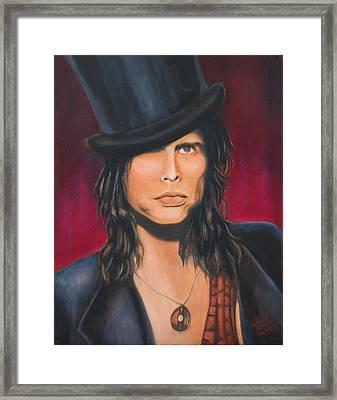 Steven Tyler Framed Print by Elena Melnikova