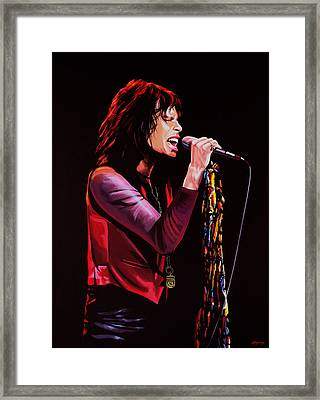 Steven Tyler In Aerosmith Framed Print by Paul Meijering