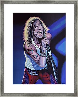 Steven Tyler Of Aerosmith Framed Print by Paul Meijering