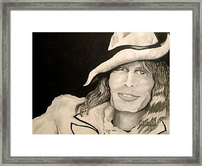 Steven Tyler Portrait Framed Print by Kathleen Allen