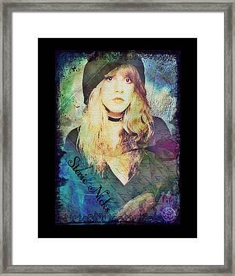 Stevie Nicks - Beret Framed Print by Absinthe Art By Michelle LeAnn Scott