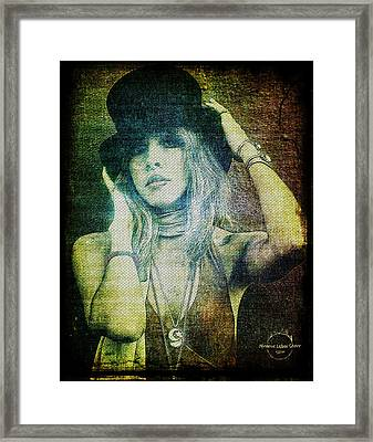 Stevie Nicks - Bohemian Framed Print by Absinthe Art By Michelle LeAnn Scott
