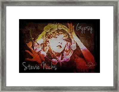 Stevie Nicks - Gypsy Framed Print by Absinthe Art By Michelle LeAnn Scott