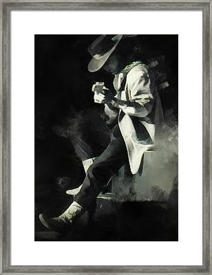 Stevie Ray Framed Print by Paulette B Wright