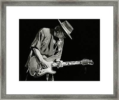 Stevie Ray Vaughan 1984 Framed Print by Chuck Spang