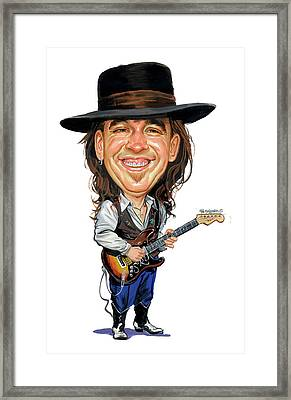 Stevie Ray Vaughan Framed Print by Art