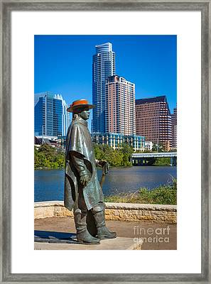 Stevie Ray Vaughan Framed Print by Inge Johnsson