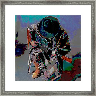 Stevie Ray Vaughan Srv Framed Print by  Fli Art