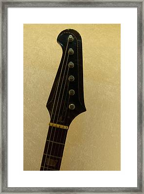 Stevie Ray Vaughan's Guitar Framed Print by Mike Martin