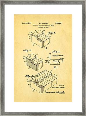 Stewart Integrated Circuit Patent Art 1964 Framed Print by Ian Monk