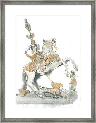 St.george From Piran Framed Print by Marko Jezernik