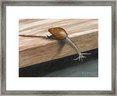 Sticking Your Neck Out  Framed Print by Rob Dreyer AFC