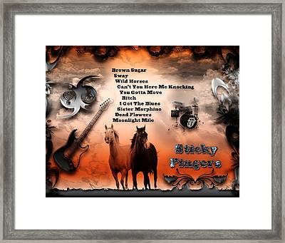 Sticky Fingers Framed Print by Michael Damiani