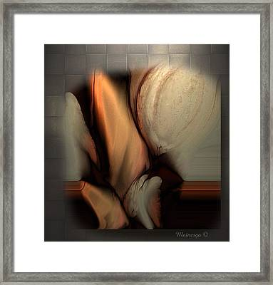 Still Abstract Framed Print by Ines Garay-Colomba