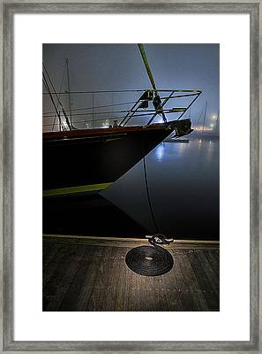Still In The Fog Framed Print by Marty Saccone