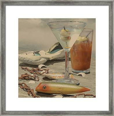 Still Life - Beach With Curves Framed Print by Jeff Burgess