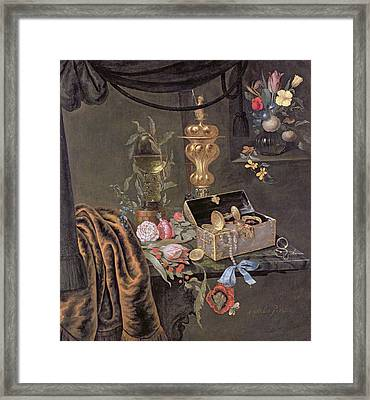 Still Life Framed Print by Christiaen van Dielaert