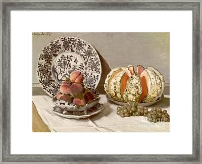 Still Life Framed Print by Claude Monet