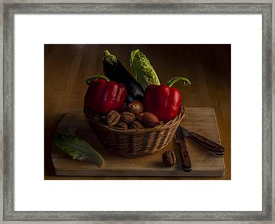 Still Life For A Vegetarian Framed Print by Julis Simo