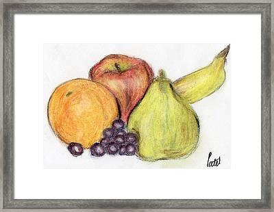 Still Life - Fruit Framed Print by Bav Patel