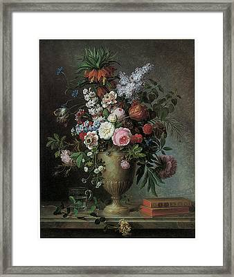 Still Life Of Flowers Framed Print by Louis Tessier