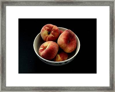 Still Life - Peaches Framed Print by Greg Thiemeyer