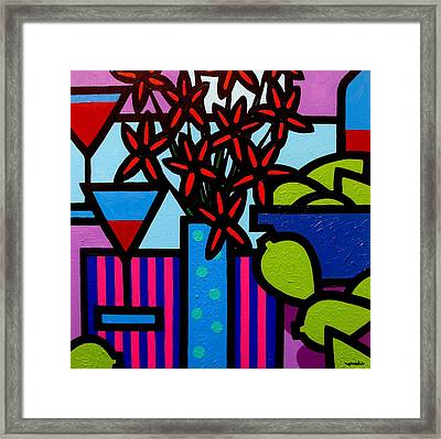Still Life With 9 Limes Framed Print by John  Nolan