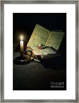 Still Life With A Candle Framed Print by Jaroslaw Blaminsky