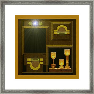 Still-life With A  Light - 168 Framed Print by Irmgard Schoendorf Welch