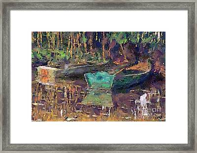 Still Life With Boats Framed Print by Dragica  Micki Fortuna