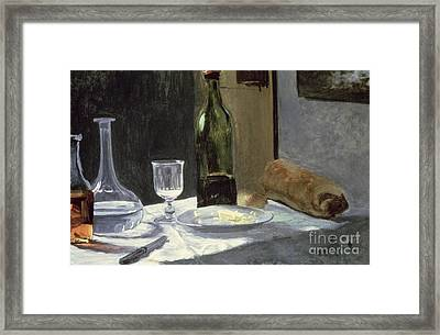 Still Life With Bottles Framed Print by Claude Monet