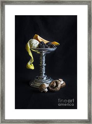 Still Life With Candle Holder Framed Print by Elena Nosyreva