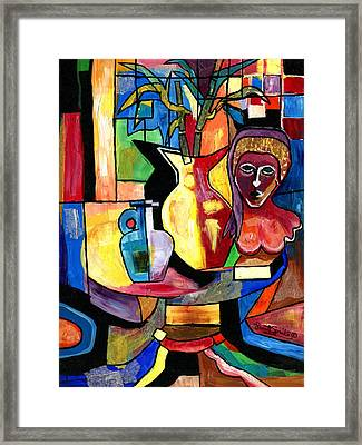 Still Life With Female Bust  Framed Print by Everett Spruill
