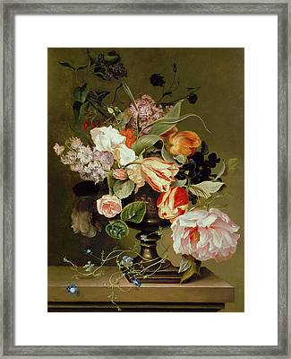 Still Life With Flowers  Framed Print by Marie Geertruida Snabille