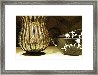 Still Life With Golden Vase Framed Print by Ben and Raisa Gertsberg