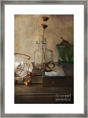 Still Life With Grasshopper Framed Print by Elena Nosyreva